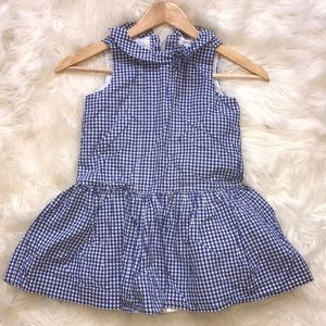 Janie and jack blue and white gingham summer dress